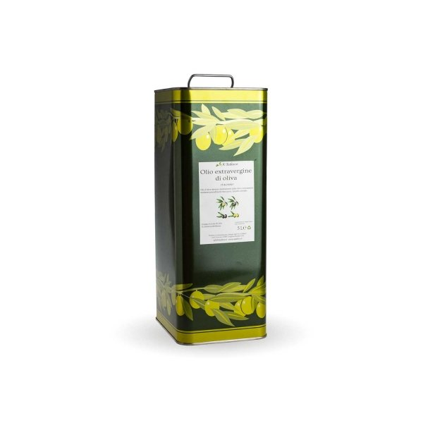 Extra virgin olive oil in tin – 5 litres – A. Tedesco's farm